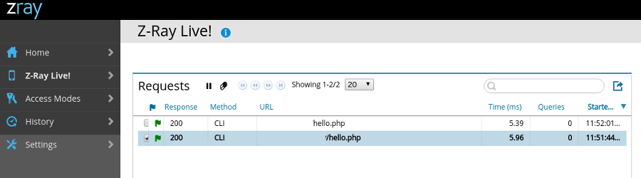 Zend Z-Ray: How to run it on PHP's built-in web server