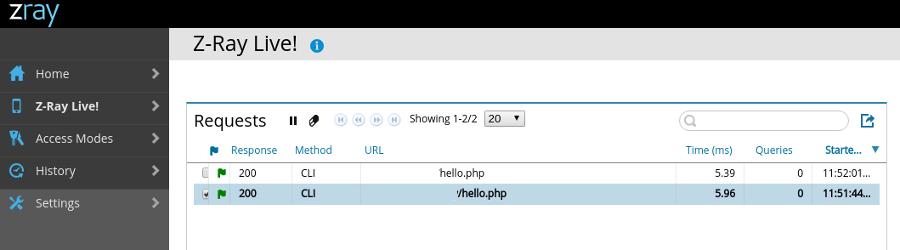 Zend Z-Ray: How to run it on PHP's built-in web server