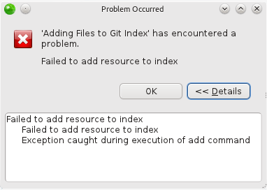 Adding Files to Git Index problem
